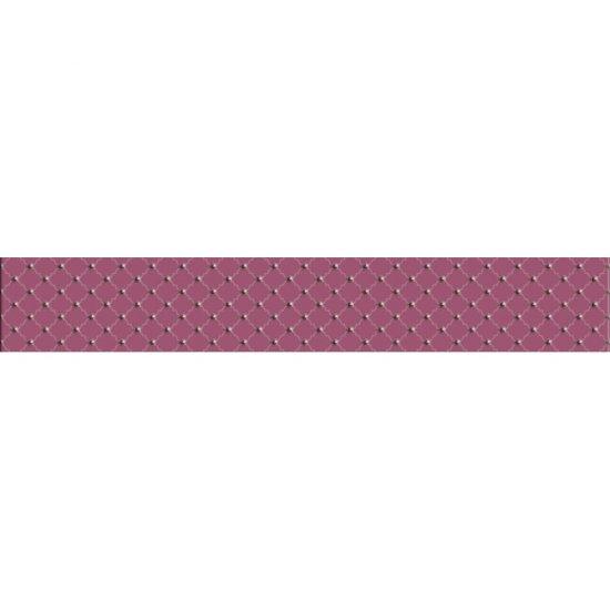 Płytka ścienna BARICELLO fioletowa listwa classic błyszcząca 7x45 gat. I