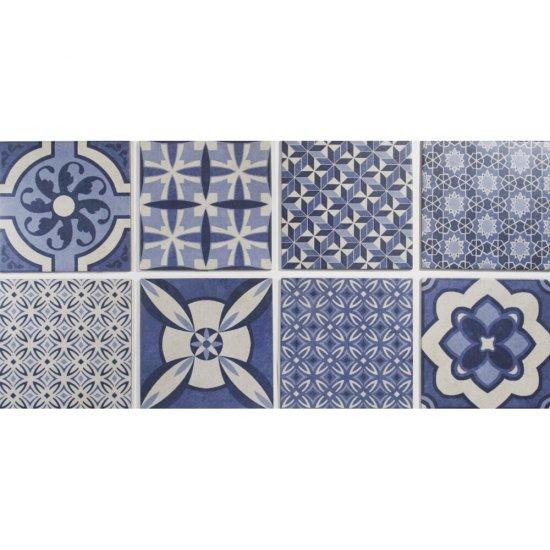 Gres hiszpański VENDIMIA mix niebieski 25x25