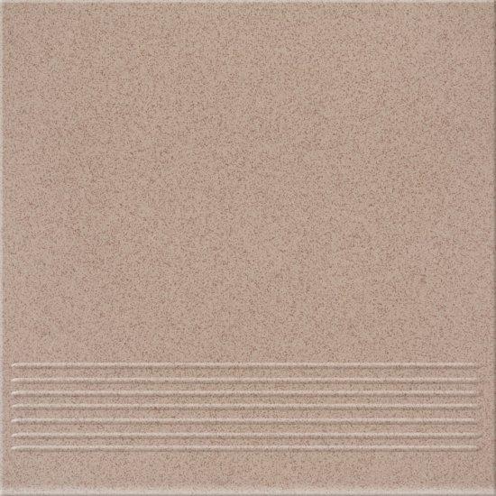 Gres techniczny LOTOS beżowo-brązowy stopnica mat 29,7x29,7 gat. II