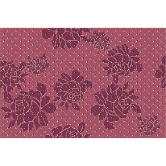 Płytka ścienna BARICELLO fioletowa inserto kwiaty błyszcząca 30x45 gat. I