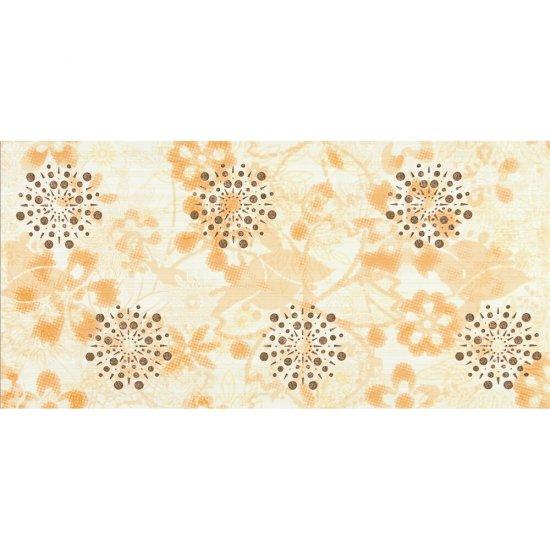 Płytka ścienna LINERO beżowa inserto kwiaty błyszcząca 29x59,3 gat. I