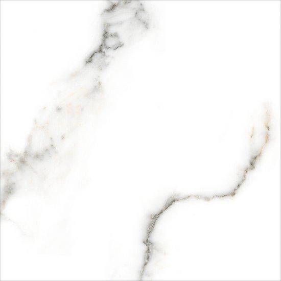 Gres szkliwiony CARRARA biały poler 60x60 gat. I