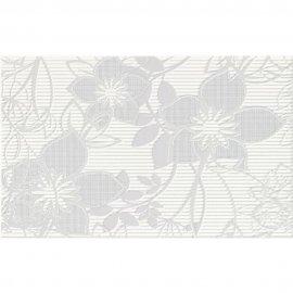 Płytka ścienna CALVANO szara inserto kwiaty błyszcząca 25x35 gat. I