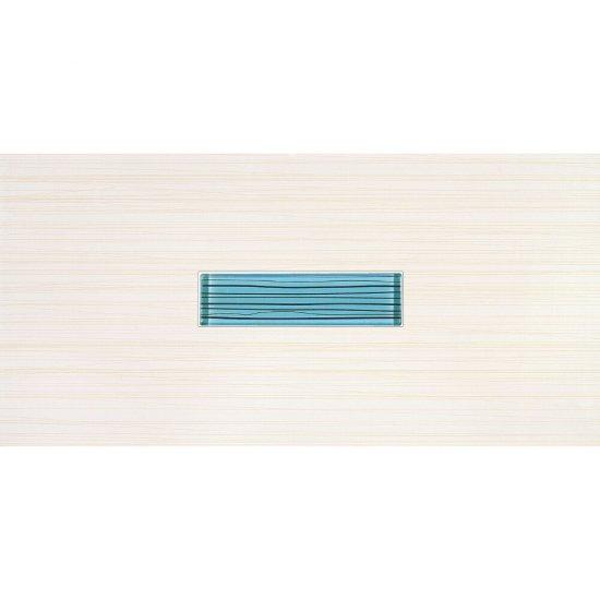 Płytka ścienna LINERO niebieska inserto błyszcząca 29x59,3 gat. I