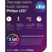 Lampa sufitowa CLOCKWORK 4xLED 53174/48/16 Philips