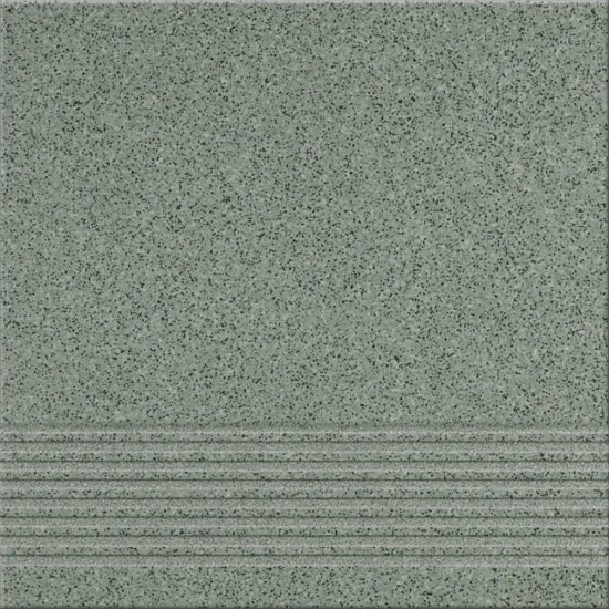 Gres techniczny KALLISTO zielony stopnica k7 mat 29,7x29,7 gat. II