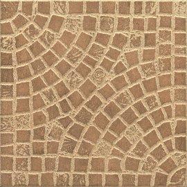 Gres szkliwiony AMONIT brązowy mat 32,6x32,6 gat. II