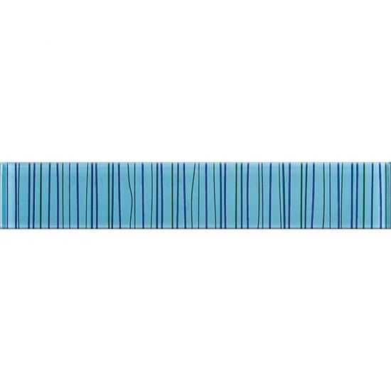 Płytka ścienna LINERO niebieska listwa szklana 5x29 gat. I