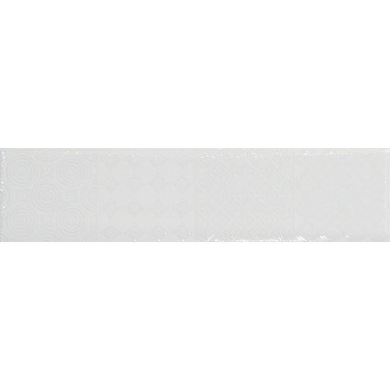 Dekor hiszpański ścienny CALCULADORA biały 7,3x30