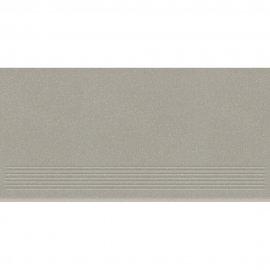 Gres zdobiony MOONDUST jasnoszary stopnica mat 29,55x59,4 gat. II