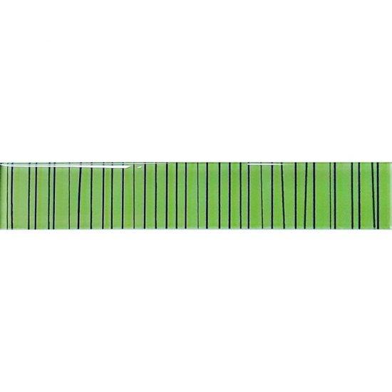 Płytka ścienna LINERO zielona listwa błyszcząca 5x29 gat. I