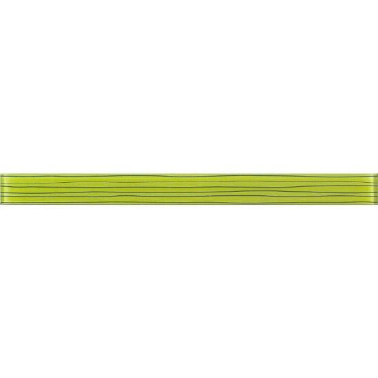 Płytka ścienna LINERO zielona listwa szklana 5x59,3 gat. I