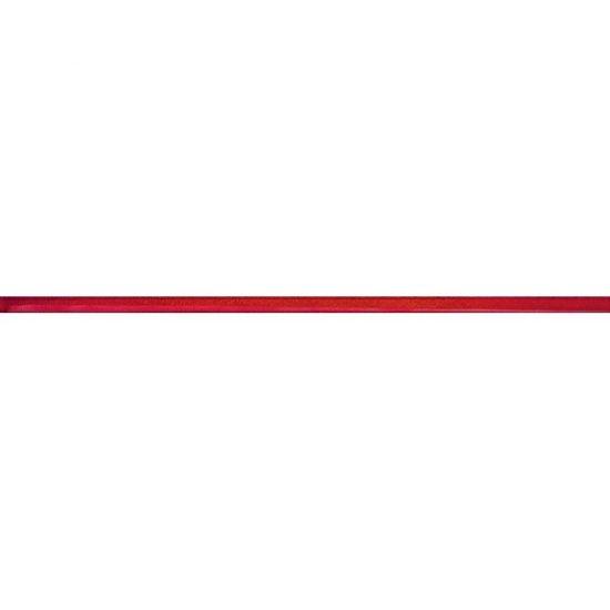 Płytka ścienna IKARIA czerwona listwa szklana błyszcząca 1,4x50 gat. I