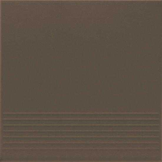 Klinkier SIMPLE BROWN brązowy stopnica mat 30x30 gat. II
