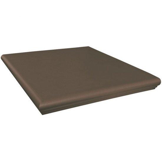 Klinkier SIMPLE BROWN brązowy kapinos narożny mat 33x33 gat. II