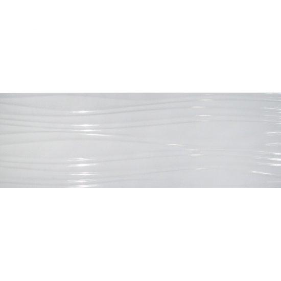 Płytka hiszpańska ścienna FALE biała 30x90