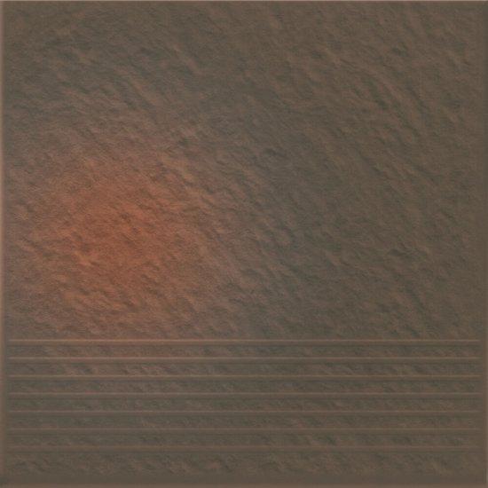 Klinkier SHADOW BROWN brązowy stopnica 3-D mat 30x30 gat. II