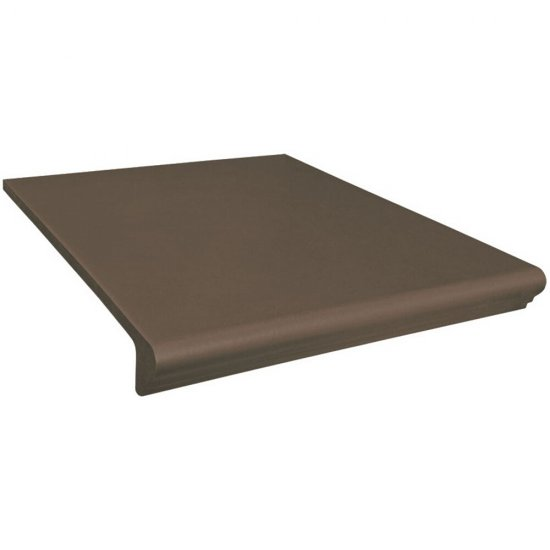 Klinkier SIMPLE BROWN brązowy kapinos prosty mat 30x33 gat. II