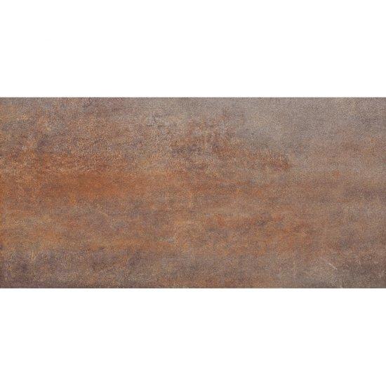 Gres szkliwiony STEEL brązowy 29,7x59,8 gat. I