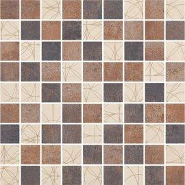 Gres szkliwiony STEEL multikolor mozaika mat 29,7x29,7 gat. I