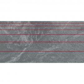Gres szkliwiony YAKARA szary inserto line lappato 44,6x89,5 gat. I