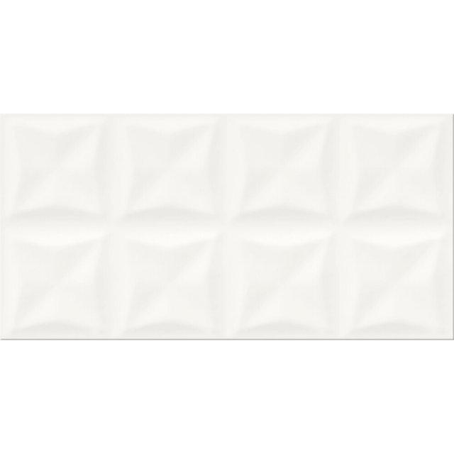 Płytka ścienna ORIGAMI DUNE biała struktura błyszcząca 29,7x60 gat. II
