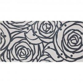 Płytka ścienna MODENA szara inserto róża błyszcząca 29,7x60 gat. I