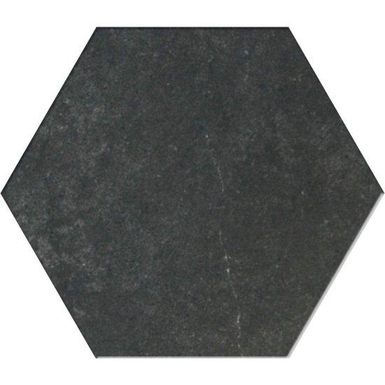 Gres hiszpański heksagonalny TRATA 25 ciemny