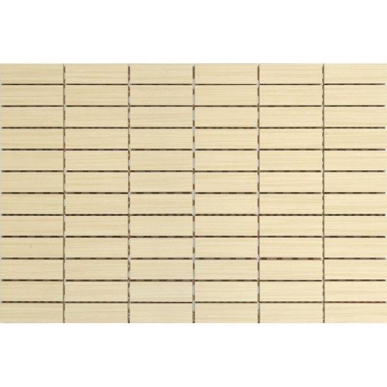 Płytka ścienna ZEBRANO kremowa mozaika prostokąty mat 30x45 gat. I