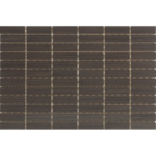 Płytka ścienna ZEBRANO brązowa mozaika prostokąty mat 30x45 gat. I