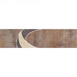 Gres szkliwiony STEEL brązowy listwa mat 11x45 gat. I