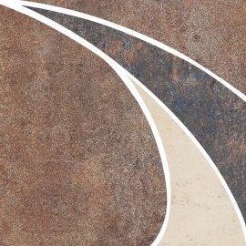 Gres szkliwiony STEEL brązowy narożnik mat 11x11 gat. I