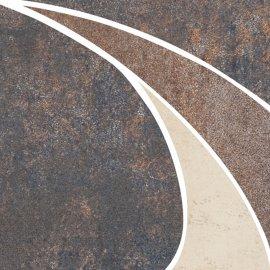 Gres szkliwiony STEEL czarny narożnik mat 11x11 gat. I
