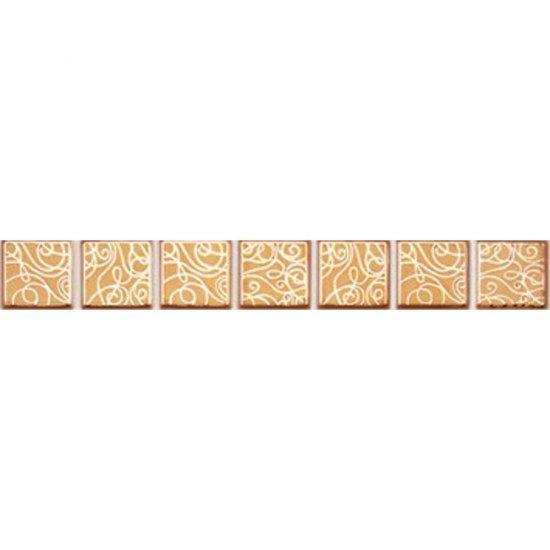 Płytka ścienna ELISA pomarańczowa listwa geo błyszcząca 3x25 gat. I