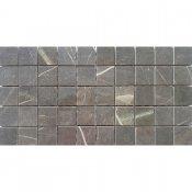 Gres szkliwiony ARKOS brązowy mozaika kwadraty poler 22,2x44,6 gat. I