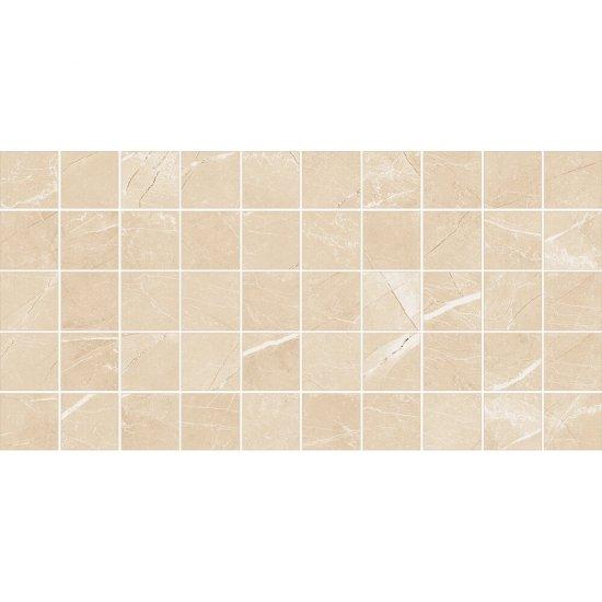 Gres szkliwiony ARKOS kremowy mozaika kwadraty poler 22,2x44,6 gat. I