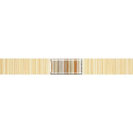 Płytka ścienna ORGANIC żółta listwa techno mat 3x25 gat. I