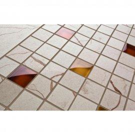 Gres szkliwiony PLAYA kremowy mozaika szklana poler 22,2x44,6 gat. I