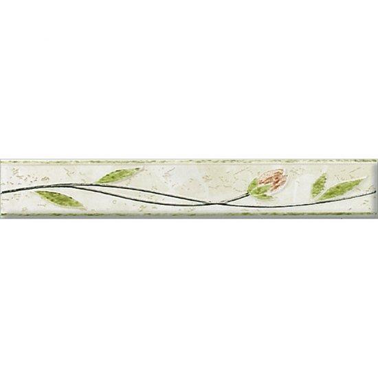 Płytka ścienna FRIZA zielona listwa błyszcząca 4,2x25 gat. I