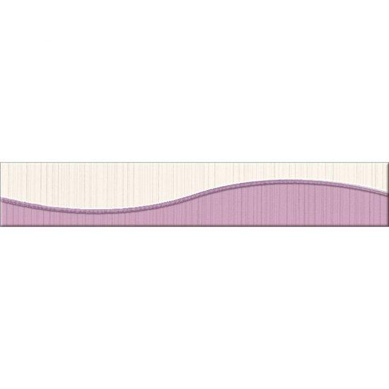 Płytka ścienna LORENA fioletowa listwa fala błyszcząca 5x30 gat. I
