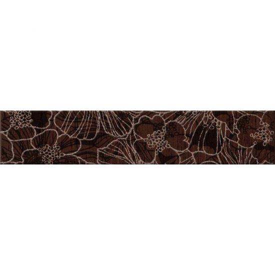 Płytka ścienna FLORES brązowa listwa kwiaty mat 5x25 gat. I
