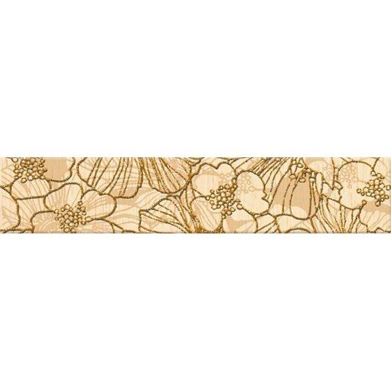 Płytka ścienna FLORES kremowa listwa kwiaty mat 5x25 gat. I