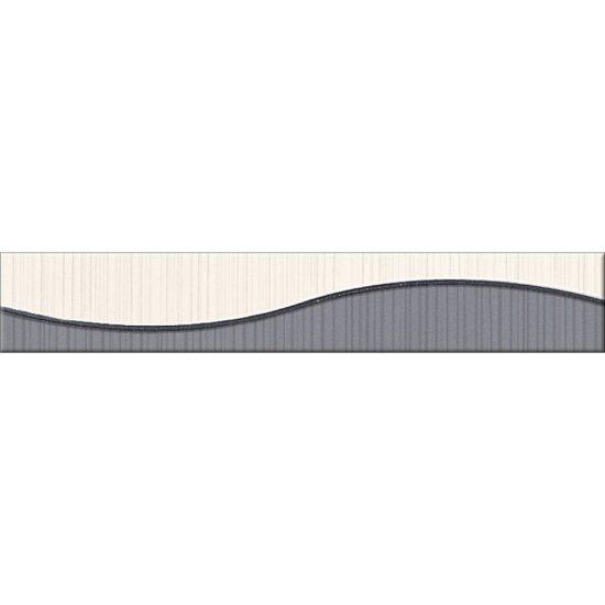 Płytka ścienna LORENA szara listwa fala błyszcząca 5x30 gat. I