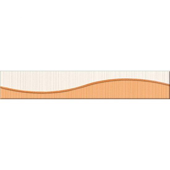 Płytka ścienna LORENA pomarańczowa listwa fala błyszcząca 5x30 gat. I