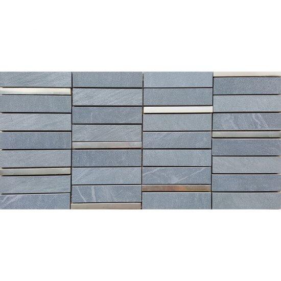 Gres szkliwiony YAKARA szary mozaika mat 22,2x44,6 gat. I