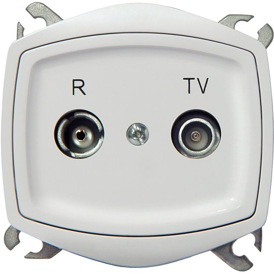 Gniazdo RTV modułowe TON COLOR SYSTEM końcowe ZAR 2,5-3 dB biały Ospel