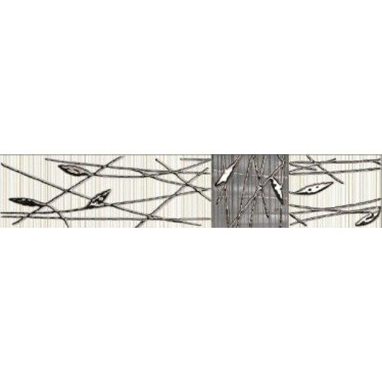 Płytka ścienna ORGANIC kremowo-grafitowa listwa classic mat 5x25 gat. I