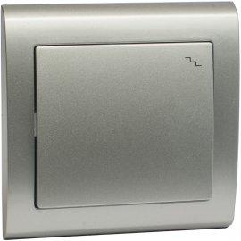 Łącznik AURA schodowy ŁP-3U srebrny Polmark