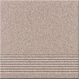 Gres techniczny BRĄZOWO-KREMOWY brązowy stopnica mat 29,7x29,7 gat. II