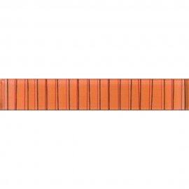 Płytka ścienna LINERO pomarańczowa listwa błyszcząca 5x29 gat. I